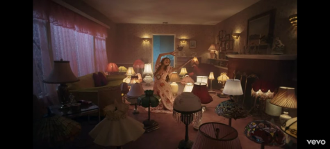 "A scene from the video to ""De Una Vez,"" which pays homage to Frida Kahlo and other aspects of Mexican culture."