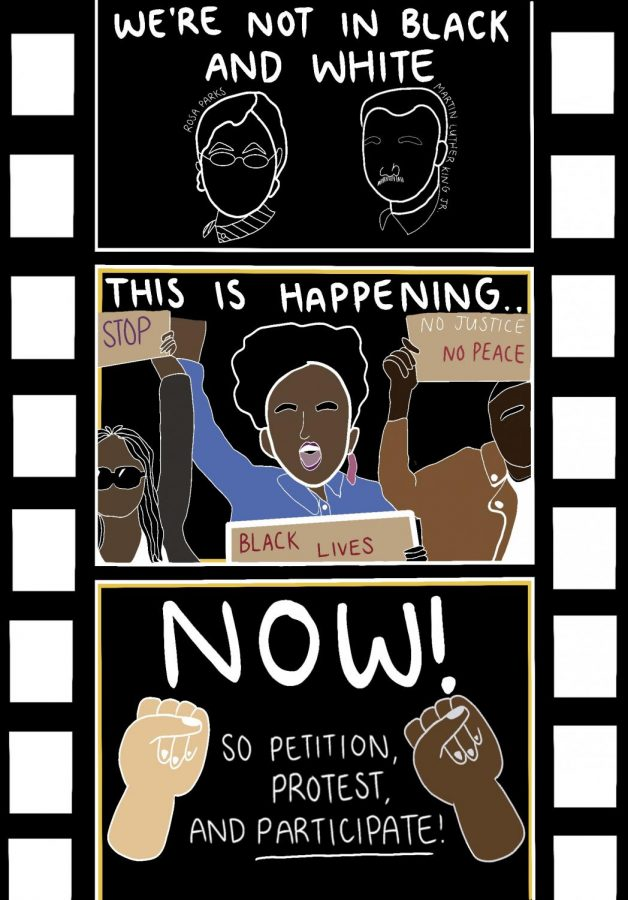 A PSA Poster created by senior Jenna Nguyen that was featured during the BHM Art Expo