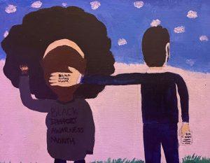 Original painting by junior Zakiah Mitchell
